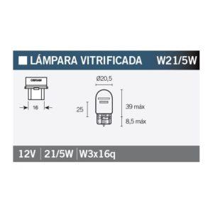 PARA TU MOTO UNIVERSAL - Lámpara OSRAM 7515 W21/5W -