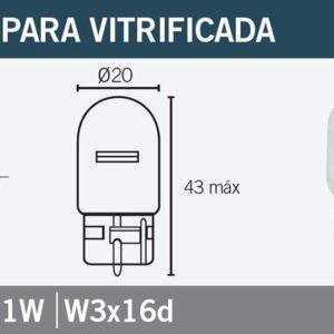 PARA TU MOTO UNIVERSAL - Lámpara OSRAM 7505 W21W -