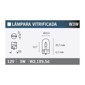 PARA TU MOTO UNIVERSAL - Lámpara OSRAM 2821 W3W -