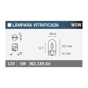 PARA TU MOTO UNIVERSAL - Lámpara OSRAM 2825 W5W -