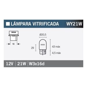 PARA TU MOTO UNIVERSAL - Lámpara OSRAM 7504 WY21W -
