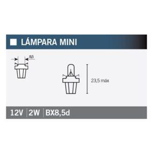 PARA TU MOTO UNIVERSAL - Lámpara OSRAM 2722MFX B8,5d -