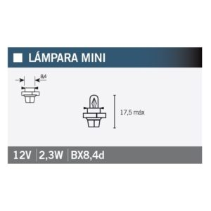 PARA TU MOTO UNIVERSAL - Lámpara OSRAM 2723MFX6 BX8,4d -