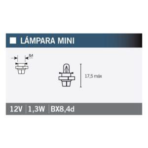 PARA TU MOTO UNIVERSAL - Lámpara OSRAM 2431MFX6 BX8,4d -