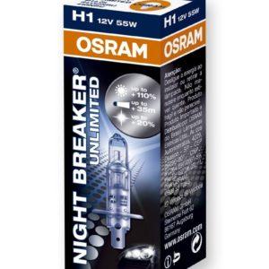 PARA TU MOTO UNIVERSAL - Lampara OSRAM H1 Night Breaker Unlimited -