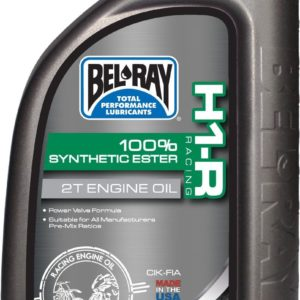 PARA TU MOTO UNIVERSAL - Botella 1 L Aceite Bel-Ray Motor 2T H1-R Racing 100% Synthetic Ester -