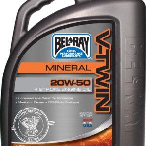 PARA TU MOTO UNIVERSAL - Garrafa 4 L Aceite Bel-Ray Motor 4T V Twin V-Twin Mineral 20W-50 -
