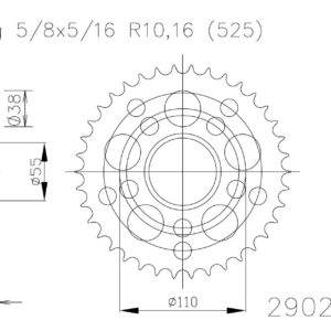 PARA TU MOTO UNIVERSAL - Corona ESJOT Acero Ducati 50-29020 41 dientes -