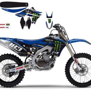 YAMAHA - Kit Adhesivos Blackbird Réplica Team Monster Yamaha 2212R2 -