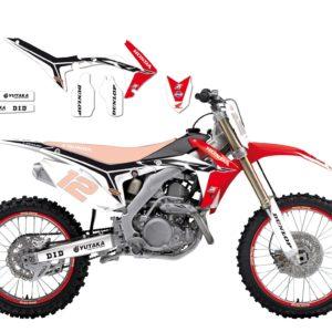 HONDA - Kit Adhesivos Blackbird Réplica team Honda 2145R11 -