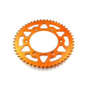 PARA TU MOTO UNIVERSAL - Corona ESJOT aluminio 51-32065AO 49 dientes naranja anodizado -