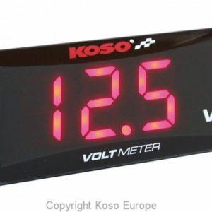 PARA TU MOTO UNIVERSAL - Voltímetro KOSO Super Slim rojo BA024R00 -