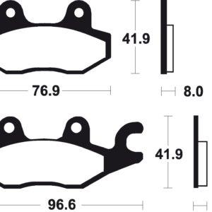 AEON - Pastillas de freno sinterizadas de competición Brembo 07YA22SX -