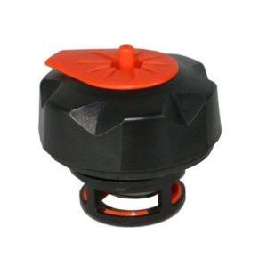 PARA TU MOTO UNIVERSAL - Tapón de gasolina negro/naranja especial para garrafa Tuff Jug -