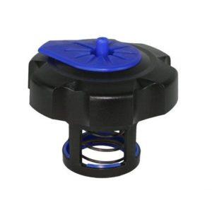 PARA TU MOTO UNIVERSAL - Tapón de gasolina negro/azul especial para garrafa Tuff Jug -
