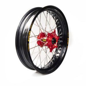 GAS GAS - Rueda completa Haan Wheels aro negro 17-3,50 buje rojo 1 75006/3/6 -