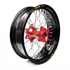 HUSQVARNA - Rueda completa Haan Wheels aro negro 17-5,00 buje rojo 1 66009/3/6 -