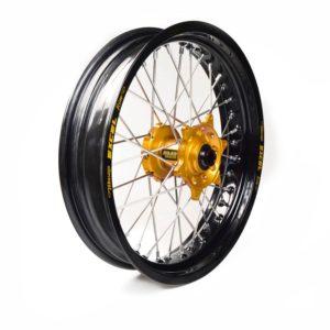 BETA - Rueda completa Haan Wheels aro negro 17-350 buje oro 1 115006/3/2 -