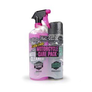 LIMPIEZA - Kit duo de cuidado moto (Motorcycle Protectant + Cleaner) Muc-Off Care Pack -