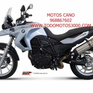 ESCAPES MIVV BMW - Mivv Suono acero inox, copa carbono BMW F 650 GS 2008+ -