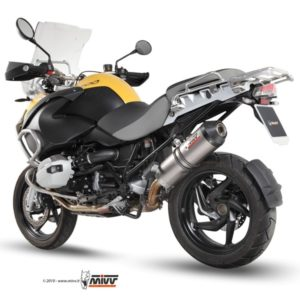 ESCAPES MIVV BMW - Mivv Oval titanio, copa carbono BMW R 1200 GS 2010+ -