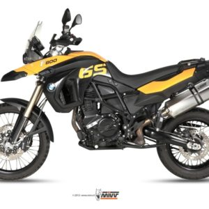ESCAPES MIVV BMW - Mivv Speed edge acero inox, copa carbono BMW F 800 GS 2008+ -