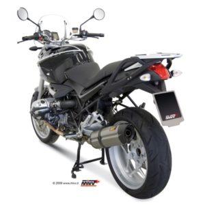 ESCAPES MIVV BMW - Mivv Suono acero inox, copa carbono BMW R 1200 R 2008-2010 -
