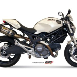 Ducati Monster 696 (2008 - 2010) - Mivv Suono acero inox, copa carbono Monster 696 2008+ -