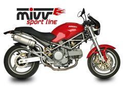 ESCAPES MIVV DUCATI - Mivv Oval titanio (alto) Monster 750 1999-2002 -