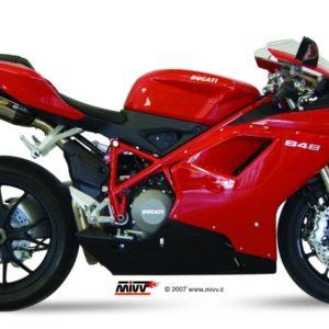 ESCAPES MIVV DUCATI - Mivv Suono acero inox, copa carbono (bajo colin) Ducati 848 2007+ -