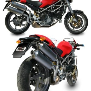 ESCAPES MIVV DUCATI - Mivv Oval titanio Monster S2R 1000 2006+ -
