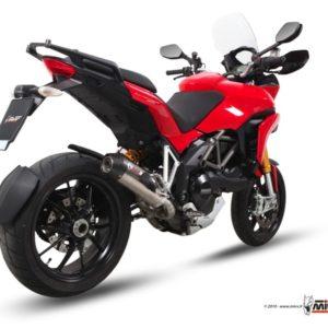 ESCAPES MIVV DUCATI - Escape OVAL TITANIO,COPA CARBONO Mivv Ducati Multistrada 1200 2010+ -