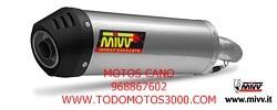 ESCAPES MIVV HONDA - Escape Mivv Honda XL 125 Varadero 2007+ OVAL TITANIO,COPA CARBONO -