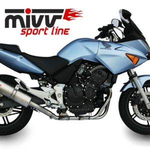 ESCAPES MIVV HONDA - Escape Mivv Honda CBF 600 2004-2010 OVAL INOX -
