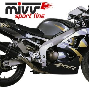 ESCAPES MIVV KAWASAKI - Escape MIVV Kawasaki ZX 6R 1998-2001OVAL CARBONO -