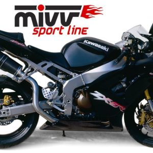 ESCAPES MIVV KAWASAKI - Escape MIVV Kawasaki ZX 6RR 2003-2004 OVAL CARBONO -
