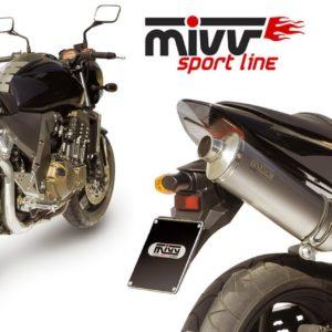 ESCAPES MIVV KAWASAKI - Escape MIVV Kawasaki Z 750 2004-2006 OVAL TITANIO -