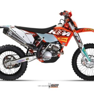 ESCAPES MIVV KTM - SISTEMA COMPLETO MIVV INOX COPA CARBONO KTM EXC 250 F (2011) -