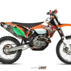 ESCAPES MIVV KTM - SISTEMA COMPLETO MIVV INOX COPA CARBONO KTM EXC 450 F (2012) -