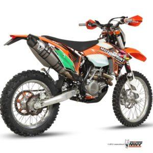 ESCAPES MIVV KTM - SISTEMA COMPLETO MIVV TITANIO COPA CARBONO KTM EXC 450 F (2012) -