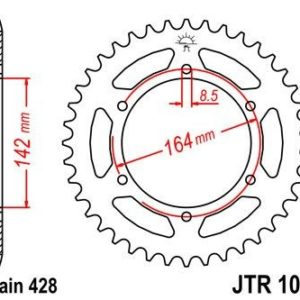 HYOUSUNG - Corona JT 1067 de acero con 52 dientes -