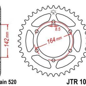 HYOUSUNG - Corona JT 1068 de acero con 46 dientes -