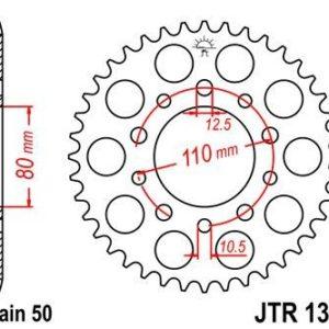 HONDA - Corona JT 1334 de acero con 44 dientes -