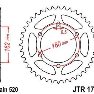 SUZUKI - Corona JT 1786 de acero con 52 dientes -