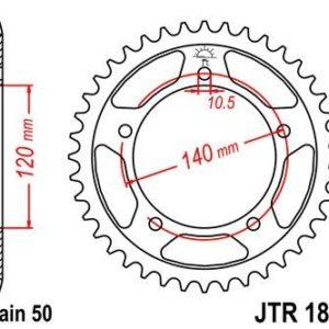 SUZUKI - Corona JT 1800 de acero con 40 dientes -