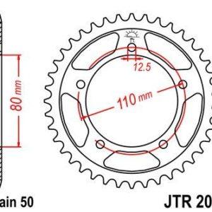 TRIUMPH - Corona JT 2010 de acero con 48 dientes -