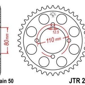 HONDA - Corona JT 284 de acero con 46 dientes -