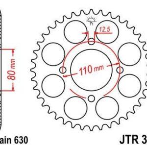 HONDA - Corona JT 333 de acero con 41 dientes -