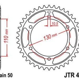YAMAHA - Corona JT 479 de acero con 44 dientes -