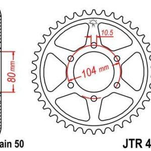 KAWASAKI - Corona JT 488 de acero con 46 dientes -